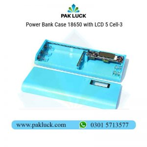 Power Bank Case 18650 with LCD 5 Cell